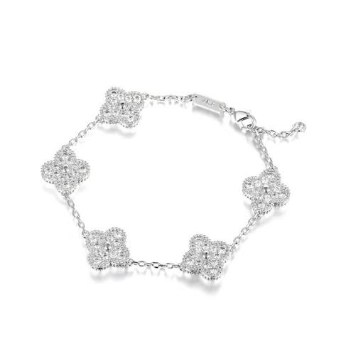 Браслет Trendy из серебра с цирконами  5 мотивов