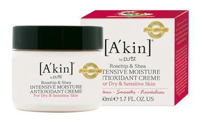 Антиоксидантный увлажняющий крем «Шиповник и масло ши» для сухой кожи, A'kin
