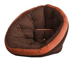 Кресло Farla Lounge Тёмно-коричневое с оранжевым