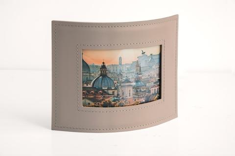 Рамка для фотографий из кожи цвет CAFE LATTE