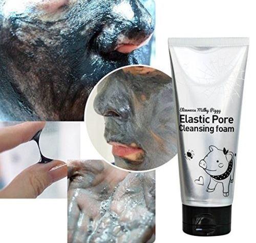 Чёрная маска для очищения пор на лице