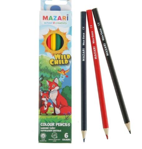 061-8042 Цветные карандаши, 6шт.