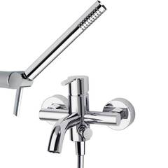 Смеситель для ванны с изливом и душевым комплектом ATICA 7505MO