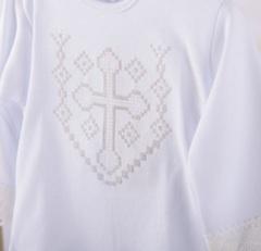Костюм на крестины для мальчика Янгол-2 белый