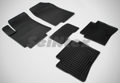 """Резиновые коврики """"Сетка"""" для Hyundai Solaris (2010-2017)"""