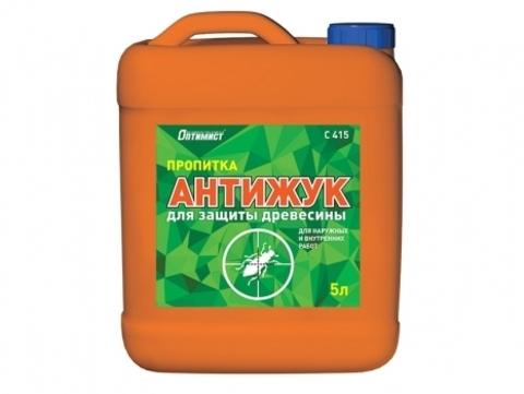 Оптимист Пропитка АНТИЖУК для защиты древесины для наружных и внутренних работ C415