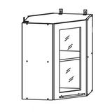 Кухня Капля 3D Шкаф верхний угловой ПУС 550*550