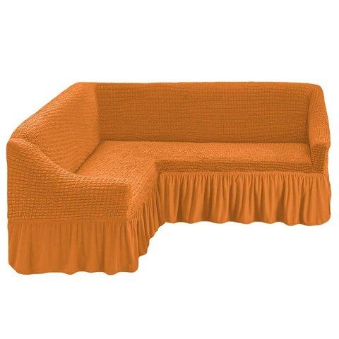 Чехол на угловой диван, рыжий