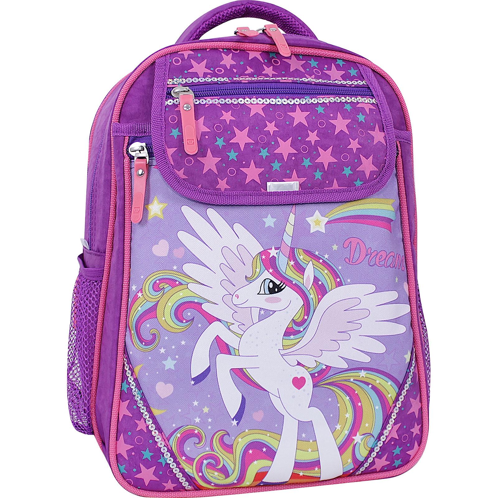 Школьные рюкзаки Рюкзак школьный Bagland Отличник 20 л. фиолетовый 674 (0058070) IMG_1208суб.674.JPG