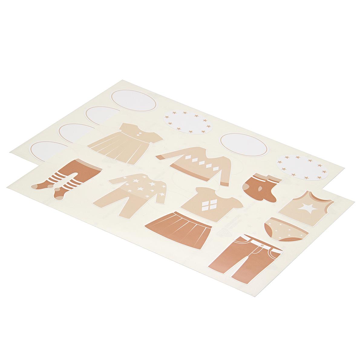 Комплект наклеек в детскую комнату 21?29,7 см, 2 листа, бежевый