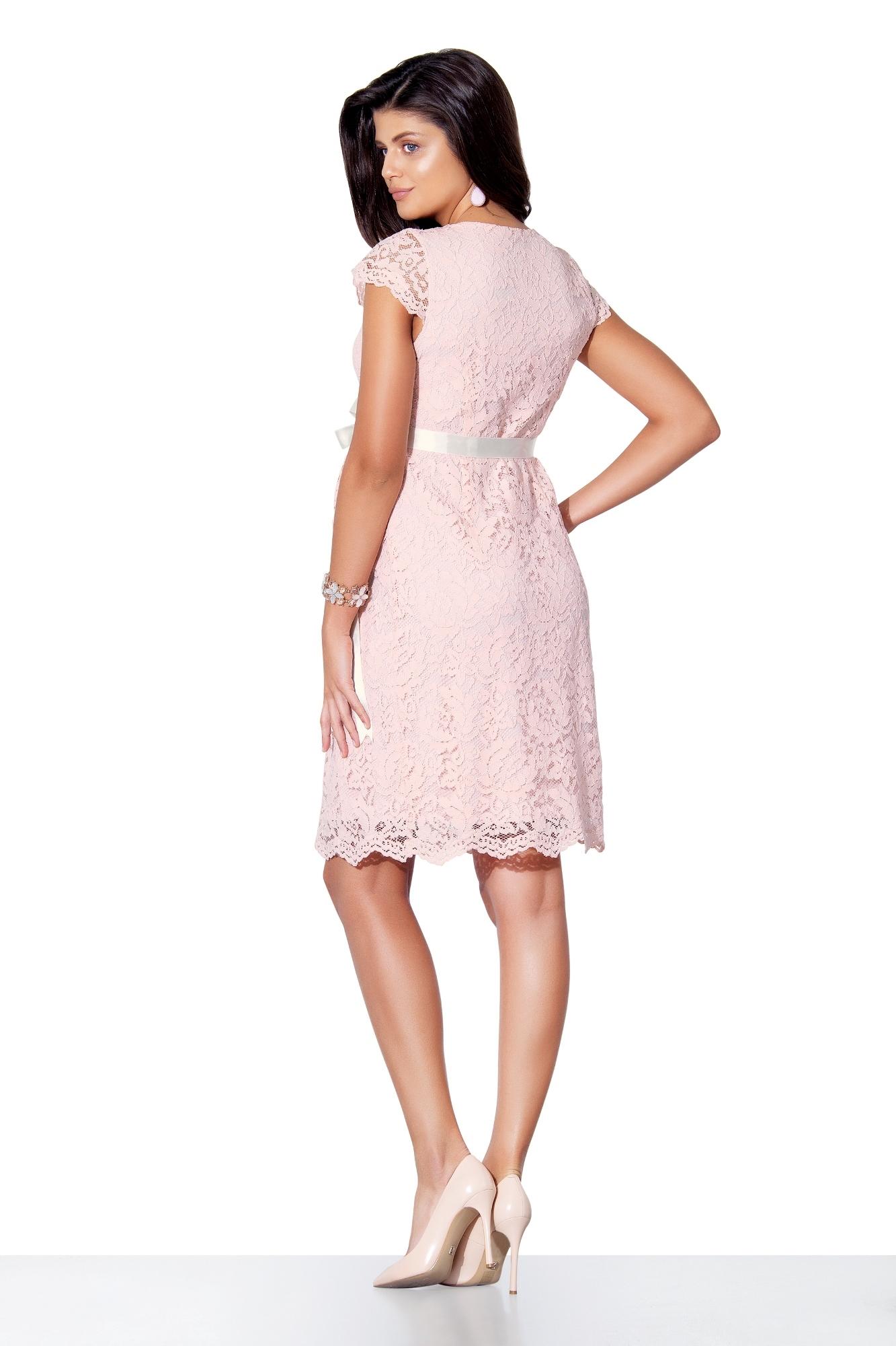Фото платье для беременных EBRU, вечернее от магазина СкороМама, розовый, размеры.