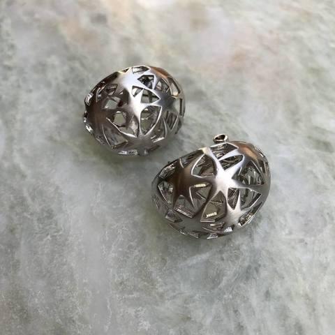 Серьги Олимпиа, серебряный цвет