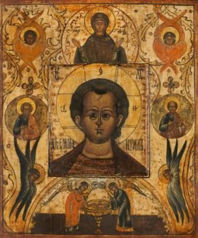 Икона Спас Эммануил на дереве на левкасе мастерская Иконный Дом