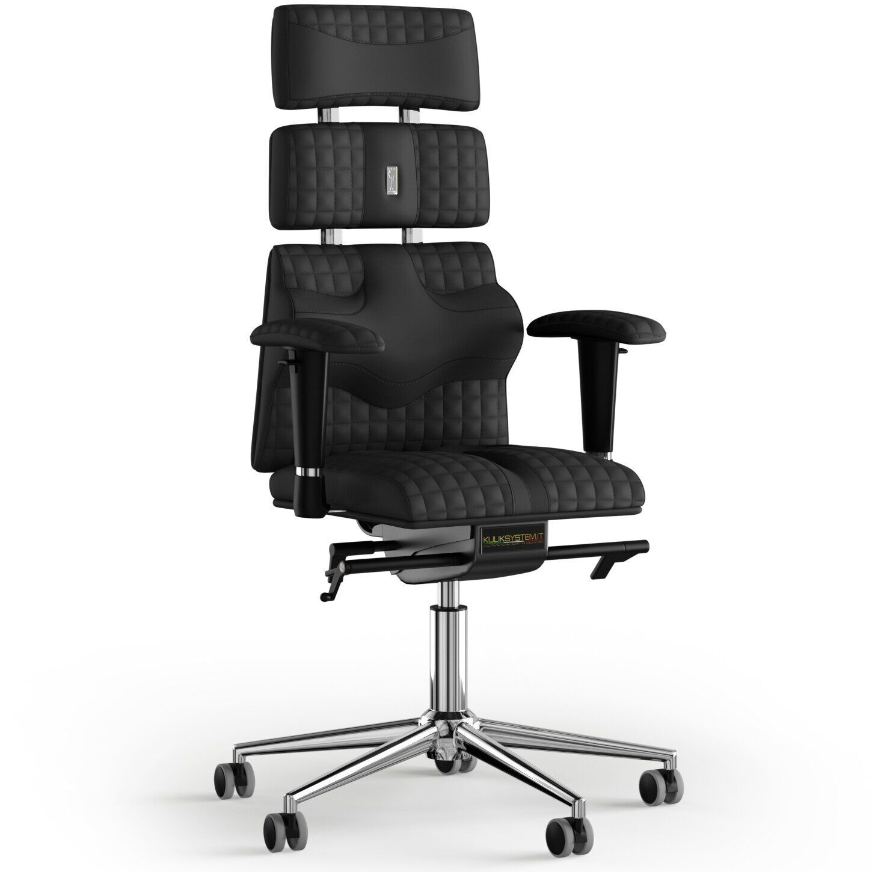 Кресло KULIK SYSTEM PYRAMID Экокожа с подголовником со строчкой