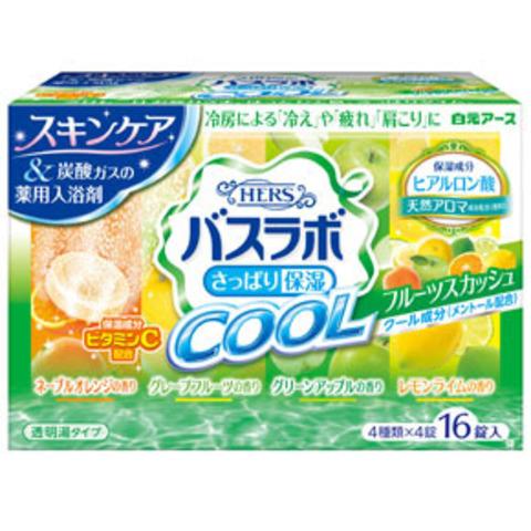 Соль для ванны Аромат мяты, цветов и зелени Hakugen Earth HERS Bath labo Cool 16 таблеток