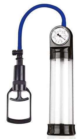Прозрачная вакуумная помпа Sex Expert с манометром