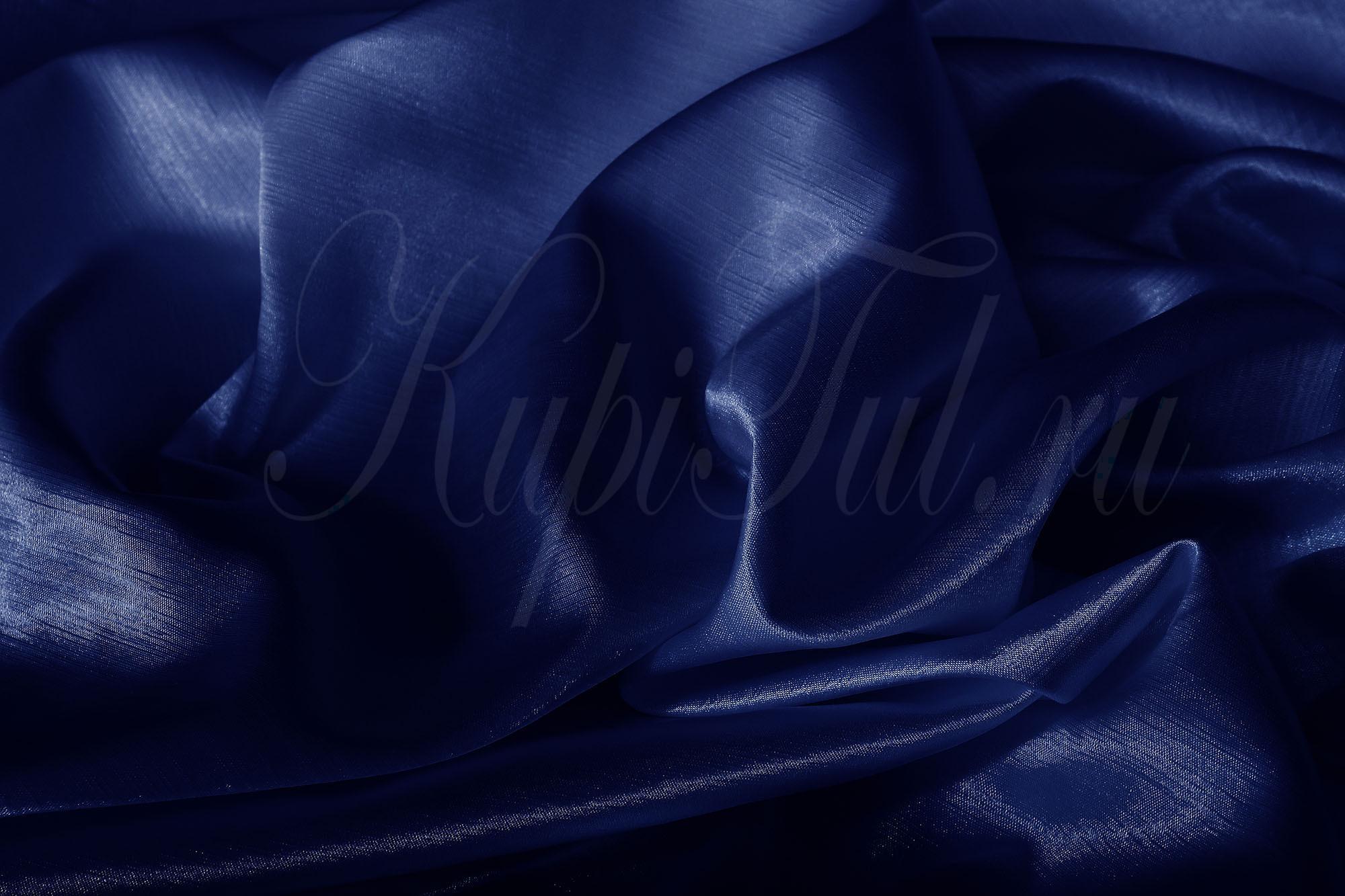 Leonardo (Синий), Шторы из однотонного шик-сатена.