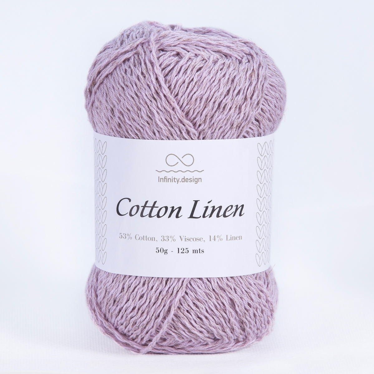 Пряжа Infinity Cotton Linen 4612 сиреневый