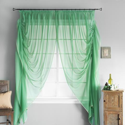 Готовая штора Loko зеленый