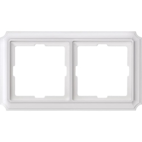 Рамка на 2 поста. Цвет Полярный белый. Merten. Antique System Design. MTN483219