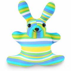 Подушка-игрушка антистресс «Зая Полосатый зеленый» 1