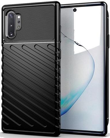 Чехол Samsung Galaxy Note 10+ цвет Black (черный), серия Onyx, Caseport