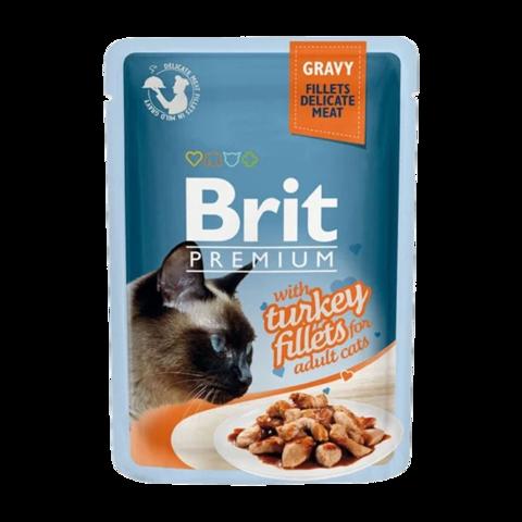 Brit Premium Cat Консервы для кошек филе индейки в соусе (пауч)