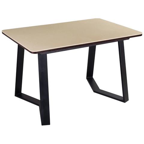 Стол Румба ПР-1 КМ 06 ВН 92-1 ЧР / Бежевый с венге / металлическая ножка / 120(157)х80 см