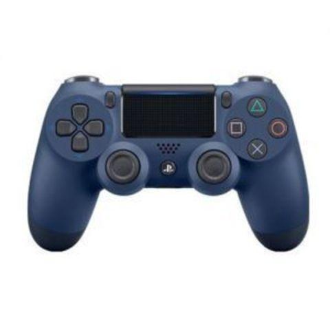 PS4 Беспроводной контроллер DualShock 4 (темно-синий, Midnight Blue, 2ое поколение)