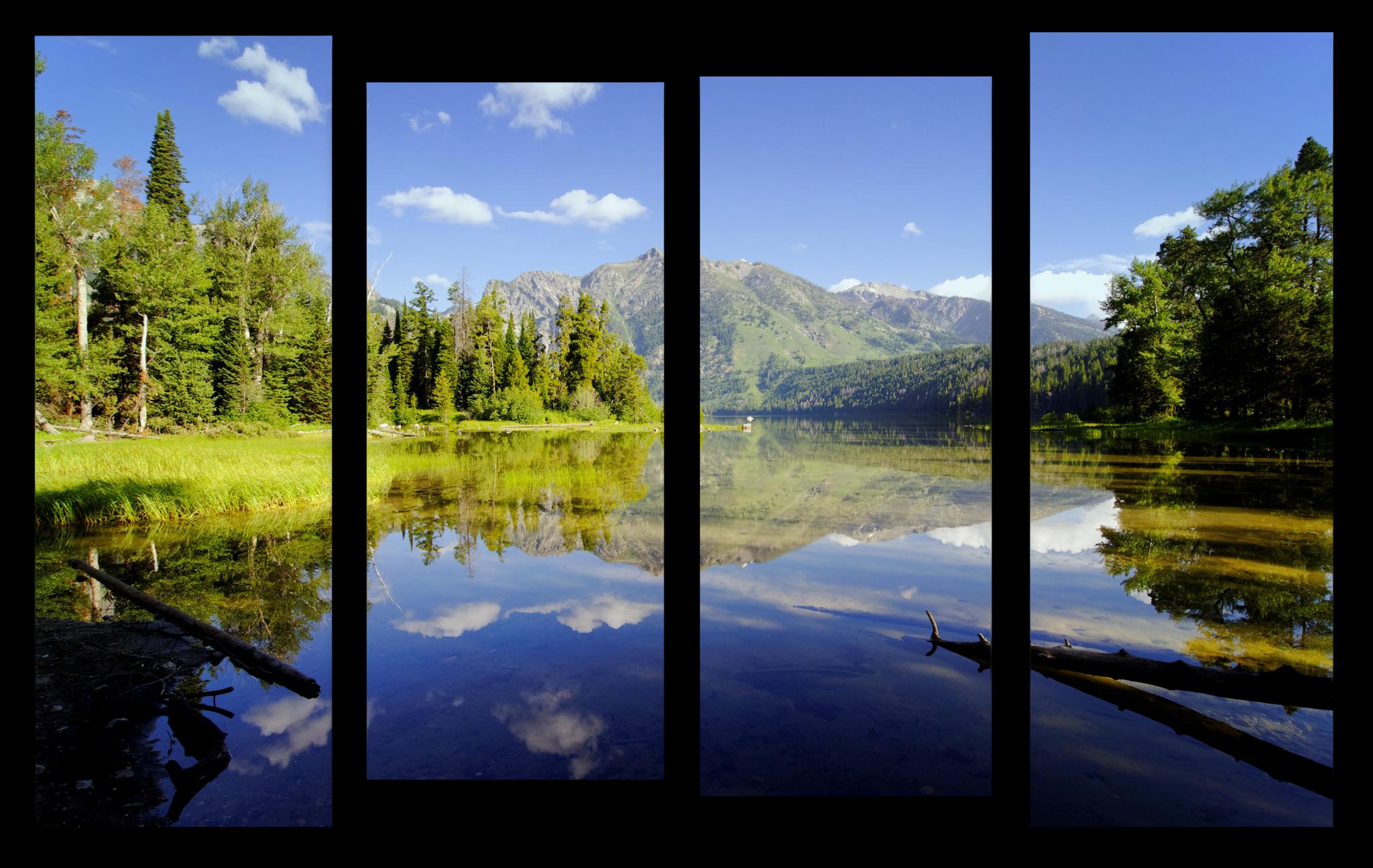 """Природа Модульная картина """"Изумрудное озеро"""" М1023_M_загибы_90х60.png"""