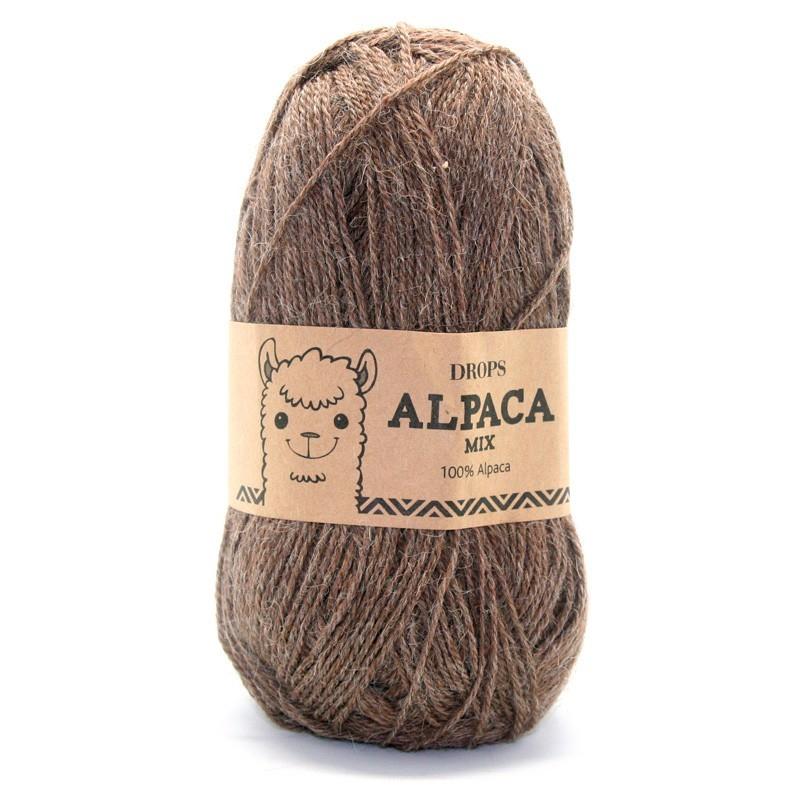 Пряжа Drops Alpaca 0607 коричневый