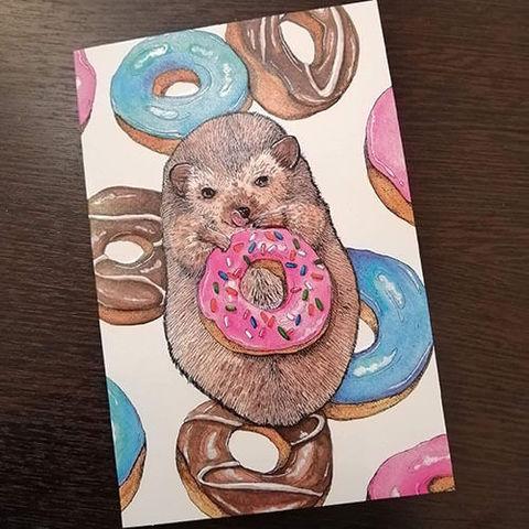 открытка с пончиками
