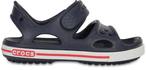 Детские сандалии для мальчиков Crocs Crocband II Navy/White