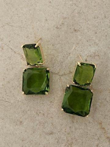 Серьги Виктори, светло-зеленый