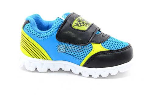 Светящиеся кроссовки Хот Вилс (Hot Wheels) на липучке для мальчиков, цвет синий. Изображение 2 из 15.