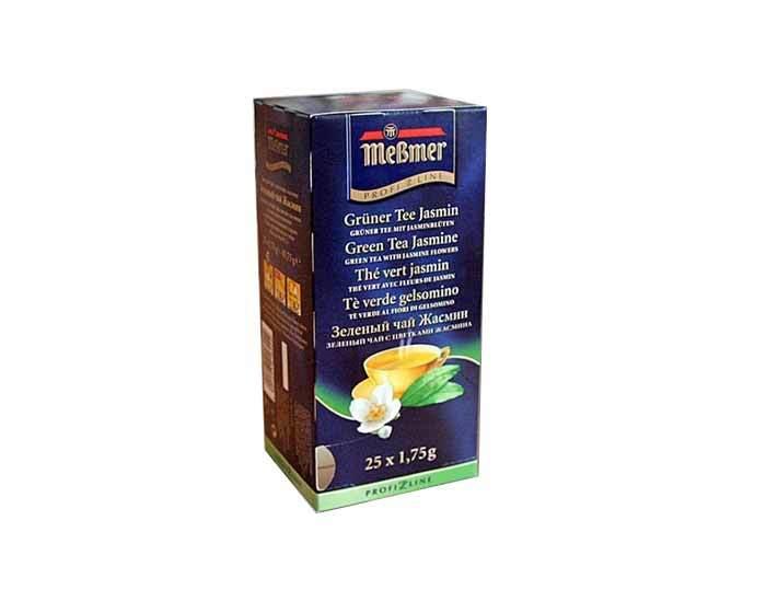 Чай зеленый в пакетиках Messmer с жасмином, 25 пак/уп, 2 г