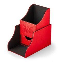 Dragon Shield - Красно-чёрная коробочка Nest+ с отделением для кубиков (100 карт)