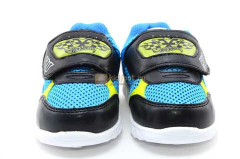 Светящиеся кроссовки Хот Вилс (Hot Wheels) на липучке для мальчиков, цвет синий. Изображение 5 из 15.