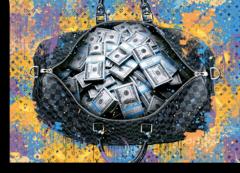 """Постер """"Сумка с деньгами  LOUIS VUITTON"""""""