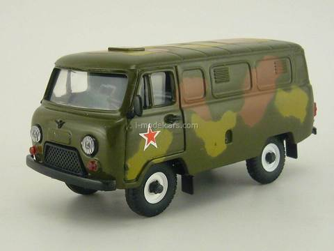 UAZ-3741 Military camouflage light summer 1:43 Agat Mossar Tantal
