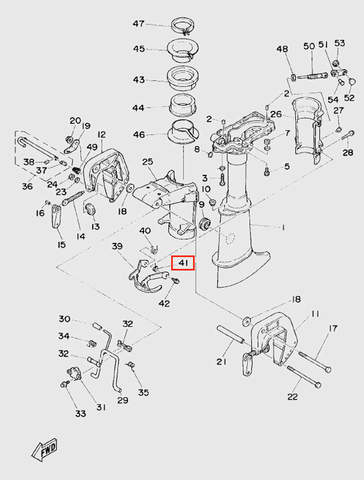 Пружина для лодочного мотора T5 Sea-PRO (10-41)