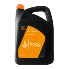 Моторное масло для грузовых автомобилей QC Oil Long Life 10W-50 (минеральное) (5л.)