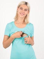Евромама. Футболка для беременных и кормящих Say Yes, ментол вид 3