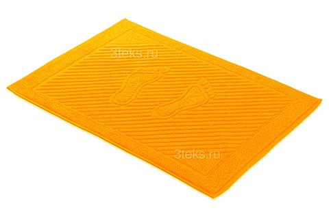 Коврик махровый для ног (Оранжевый)
