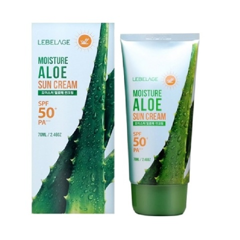 Крем для лица солнцезащитный увлажняющий с экстрактом алоэ SPF50+ PA+++ Lebelage Moisture Aloe Sun Cream