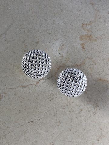 Серьги Экспена Сфера, серебряный цвет