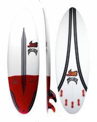 "Серфборд LOST 6'2"" PUDDLE JUMPER ROUND PIN CARBONWRAP RD FCS2 5 FIN"