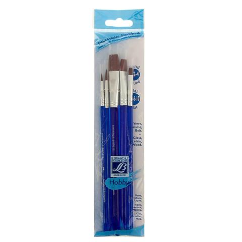 Набор кистей Lefranc&Bourgeois Hobby X5 [2/4/4/6/10], синтетика, короткая ручка
