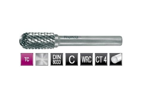 Бор-фреза твердосплавная C(WRC) 12,0х25x6x65мм HM Ruko 116023