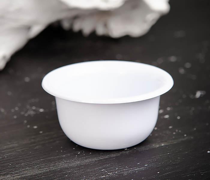 RAZ449 Пластиковая чаша для бритья белого цвета